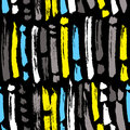 Ink abstract seamless pattern. Background with artistic strips a