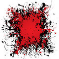 Ink blood splat grunge Stock Image