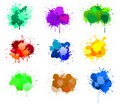 Ink blots Stock Photo