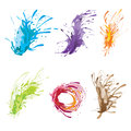 Ink color brush set Stock Image