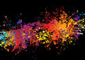 Ink crash rainbow Royalty Free Stock Photography