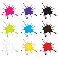 Ink drop symbol colorful isolated Royalty Free Stock Images