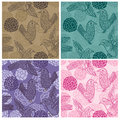 Ink Feel Bird Seamless Pattern_eps Stock Photos