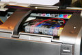Ink flow system on printer. Royalty Free Stock Photo