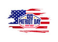 ink patriot day sign illustration design