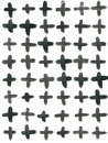 Ink Seamless Cross Pattern. Abstract print with brush strokes. Monochrome hand drawn texture. Artistic tileable Royalty Free Stock Photo