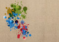 Ink splash on cardboard Royalty Free Stock Photo