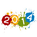Ink splash new year colorful design Royalty Free Stock Photography