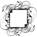 Ink splat floral cross Royalty Free Stock Photography