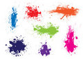 Ink splat grunge colour Stock Photography
