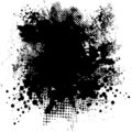 Ink splat round Stock Images
