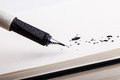 Ink splats with fountain pen Royalty Free Stock Photo