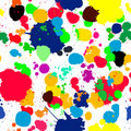 Ink splats pattern in colors Royalty Free Stock Image