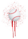 Ink splatter baseball illustration design over white Stock Photography