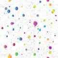 Ink stains grunge seamless background vector. Scribble ink splatter, spray blots, dirt spot elements. Watercolor paint