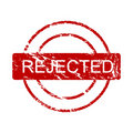 Ink stamp: rejected (vector) Royalty Free Stock Image