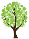 Ink tree illustration of a with spots Royalty Free Stock Images