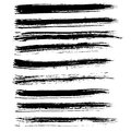 Ink vector brush strokes set. Vector illustration. Grunge hand drawn watercolor texture. Royalty Free Stock Photo