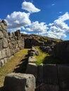 Inka stonewalls near Cusco Royalty Free Stock Photo
