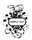 Inkblot oval Royalty Free Stock Images