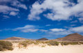 Inland northern fuerteventura around lajares Stock Images