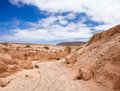 Inland northern fuerteventura barranco dry river bed close to lajares Stock Photos