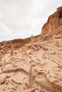 Inland northern fuerteventura barranco dry river bed close to lajares Stock Images