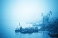 Inland port in yangtze river Stock Image