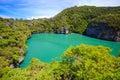 Inland sea angthong national marine park thailand koh samui southern of Stock Photos