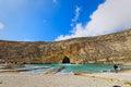 Inland Sea at Dwejra, Gozo, Malta, super-wide angle Royalty Free Stock Photo