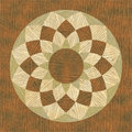 Inlay circular wooden pattern fine texture Royalty Free Stock Photos