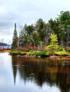 Inlet to big bay near speculator new york in the adirondack mountains Stock Images