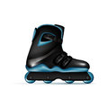 Inline skate shoe isolated on white background Stock Photography