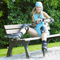 Inline skater Royalty Free Stock Images