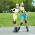 Inline skaters Stock Photos