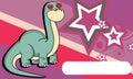Inlove large neck dinosaur expressions cartoon background brontosaurus in vector format Stock Photo
