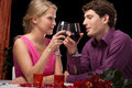 Inlove people drinking wine Royalty Free Stock Images