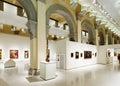 Innenraum von nationalem art museum von katalonien Lizenzfreie Stockfotografie