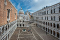 Inner court of Doge's Palace, Venice, Italy Royalty Free Stock Photo