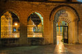 Inner courtyard amd sadivan fountain f for ablutions makam ibraham camii abraham s hiding place in sanliurfa turkey Stock Photo