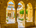 The inner courtyard Royalty Free Stock Photo
