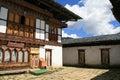 The Inner Courtyard Of A Buddhist Monastery - Gangtey - Bhutan