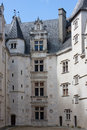 The inner courtyard of the castle of pau france Royalty Free Stock Photography