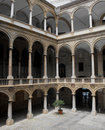 Inner courtyard of an Italian palace. Royalty Free Stock Photography