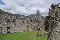 Inner courtyard of Kilchurn Castle, Loch Awe, Argyll and Bute, Scotland Royalty Free Stock Photo
