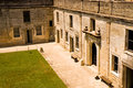 Inner courtyard of old fort Royalty Free Stock Photo