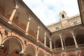 Inner courtyard of palace Palazzo Doria Tursi Royalty Free Stock Photo