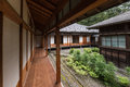 Inner courtyard at Tamozawa Imperial Villa in Nikko Royalty Free Stock Photo