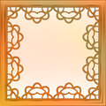Inner decorated baroque bronze square frame vector