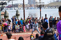 Inner harbor street entertainer baltimore mar performer entertaining crowds who throng to baltimore s on beautiful weekend day in Stock Photo